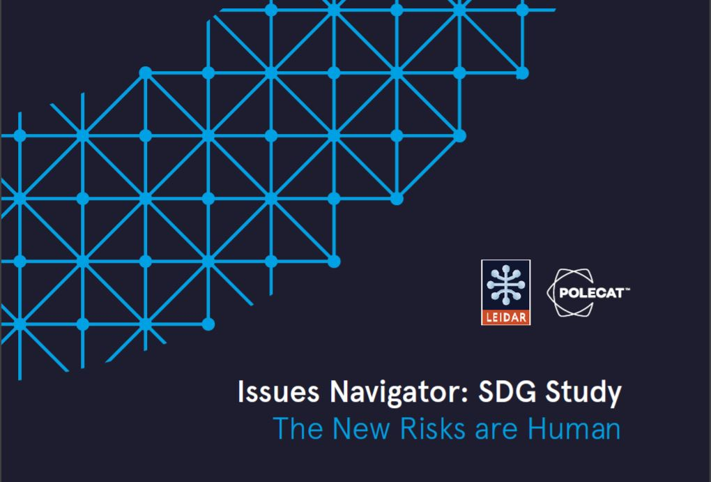 SDG Study 2020 - The New Risks are Human